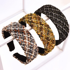 Color Block Hairband Korean Gift Hair Accessories