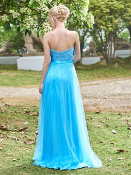 Fancy A-Line Sweetheart Lace Bridesmaid Dress