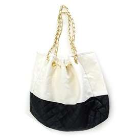 Causal Quilted Lining Chain Shoulder Bag