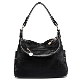 Litchi Grain PU Shoulder Bag