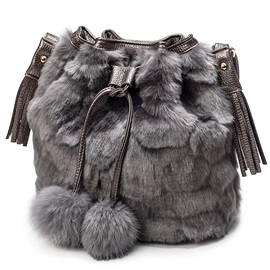 Classic Fuzzy Bucket Shoulder Bag