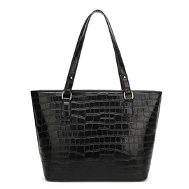 Vogue Croco-Embossed Shoulder Bag