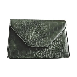 Simplicity Solid Color Croco-Embossed Crossbody Bag