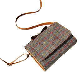 Casual Plaid Mini Women Shoulder Bag