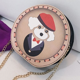 Cute Animal Circular Shoulder Bag