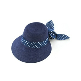 Popular Hot Selling New Bow Knot Polka Dots Summer Hat