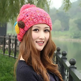Elegant Knit Woolen Yarn Hat