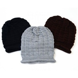 Pile Pattern Knitted Winter Hat