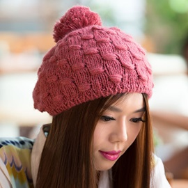 All-Matched Plaid Design Knitted Hat