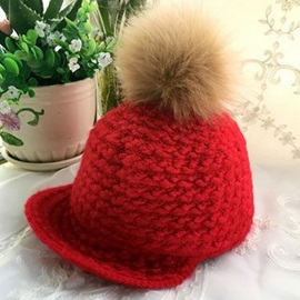Lovely Pompon Design Kid's Knitted Hat