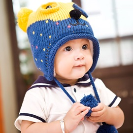 Cartoon Bear Earcuff Warm Kid's Hat