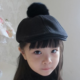 Pompon Decorated Beret Hat for Kid