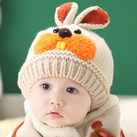 Stylish Rabbit Knitting Kid's Hat