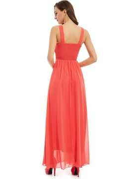 Pretty Straps Beaded Pleats A Line Evening Dress