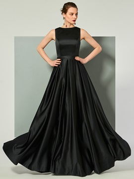 Excellent Scoop Lace Sashes Sleeveless Floor-Length Evening Dress