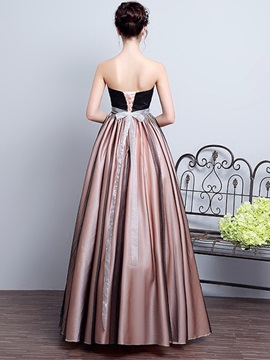 Simple A-Line Sweetheart Pleats Sashes Floor-Length Prom Dress