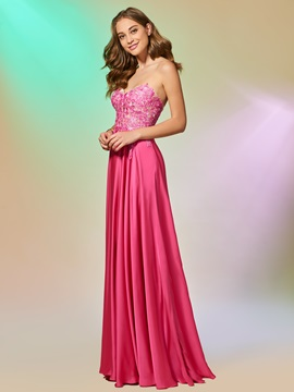 Appliques Sweetheart A-Line Floor-Length Prom Dress