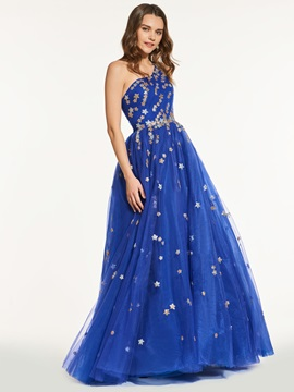Modern Beading One-Shoulder A-Line Prom Dress