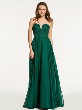 Lace A-Line Sweetheart Floor-Length Prom Dress