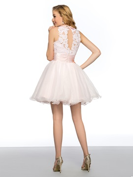 Vigorous A-Line Appliques Pearls Empire Short Homecoming/ 16 Dress