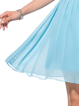 Enchanting A-Line Straps Beading Ruffles Short Homecoming Dress