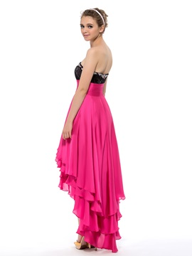 Sweetheart Sequins Beading Asymmetrical A-Line Prom/Homecoming Dress