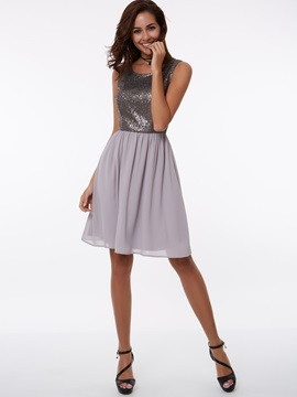 Straps A-Line Short Sequins Homecoming Dress