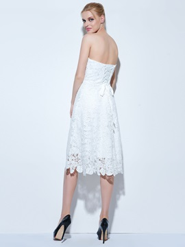 Fancy Sweetheart Knee-Length Lace Homecoming Dress