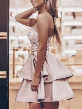 Mini Ruched Sleeveless A-Line Homecoming Dress 2019