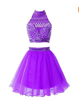 Modern Scoop Neck Beading Short Homecoming Dress