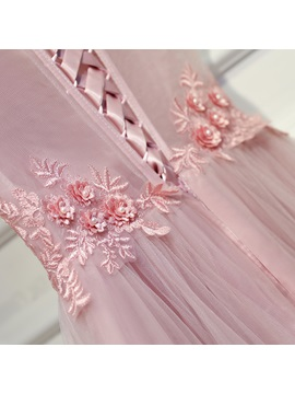 Nice Off-the-Shoulder Pearls A-Line Appliques Mini Homecoming Dress