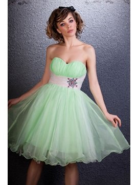 Cute Sweetheart Empire Waistline Beading Short Daria's Homecoming/Sweet 16 Dress