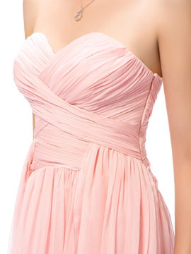 Simple Style A-Line Sweetheart Floor-Length Ruched Prom Dress Designed