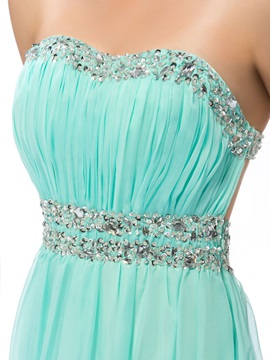 Delicate Sweetheart Beading A-Line Floor-Length Prom Dress Designed