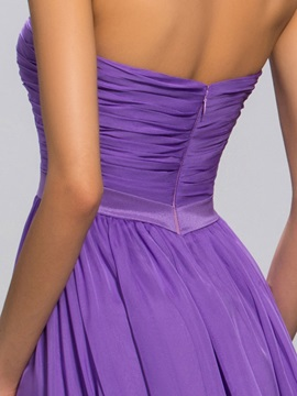 Sweetheart Pleats Bowknot A-Line Long Evening Dress Designed