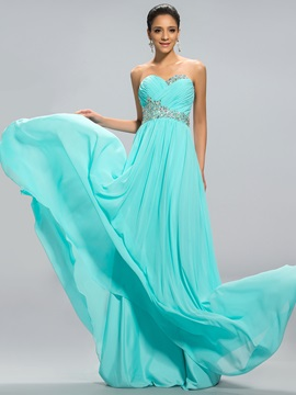Sweetheart A-Line Beading Long Prom Dress Designed
