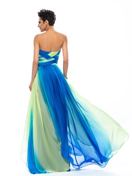 Consice Sweetheart Pleats Long Prom Dress Designed