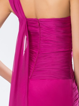 Glorious One-Shoulder Split-Front Appliques Long Evening Dress Designed