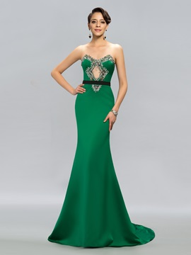 Dazzling Mermaid Sweetheart Beading Court Train Evening Dress Designed & casual Designer Dresses