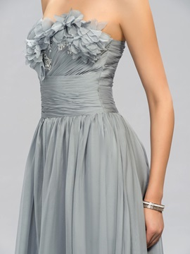 Elegant A-Line Sweetheart Pleats Long Evening Dress Designed