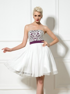 Modern Sweetheart Sequined Beading A-Line Lace Short Cocktail Dress & Designer Dresses from china