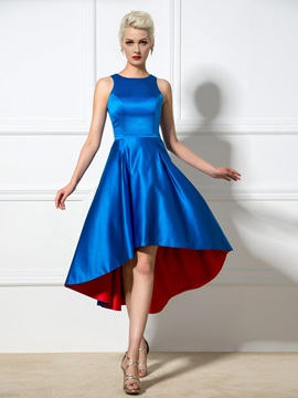 Simple A-Line Straps Hollow Sleeveless Asymmetrical Cocktail Dress & romantic Designer Dresses