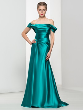 Off the Shoulder Draped Long Evening Dress & Designer Dresses for less