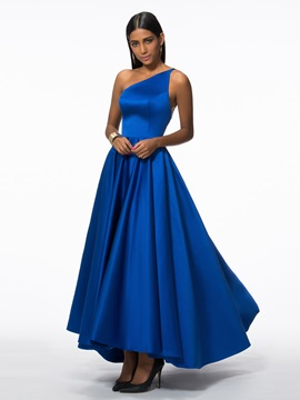 Modern One Shoulder Appliques High Low Evening Dress & Designer Dresses for sale