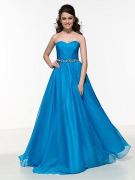 Chic Sweetheart A-Line Pleats Beading Prom Dress & Designer Dresses for sale