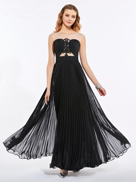 Unique Scoop A-Line Appliques Pleats Sweep Train Prom Dress & modern Designer Dresses