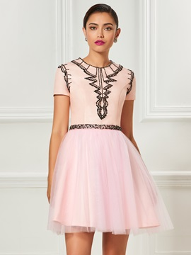 A-Line Jewel Beaded Mini Cocktail Dress & Designer Dresses 2012
