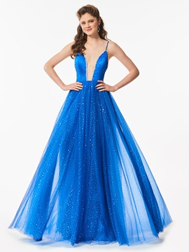 Spaghetti Straps Beaded A-Line Prom Dress & unusual Designer Dresses