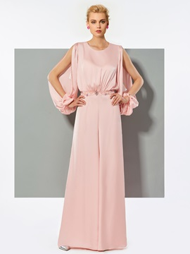 Beading Button Pink Evening Jumpsuits