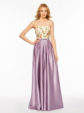 Chic Sweetheart Embroidery Prom Dress & petite Designer Dresses
